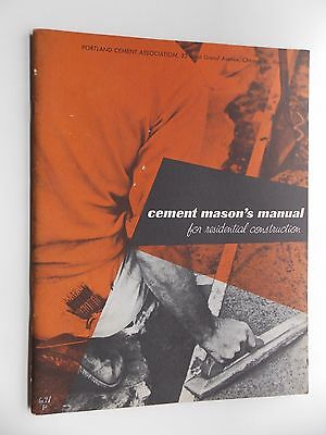 Cement Mason's Manual for Residential Construction (SC 1960) Portland Cement