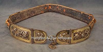 Antique Hungarian Polish Silver Mounted Sword Belt 17th -19th century Hungary