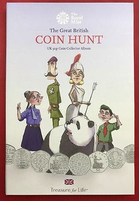 50p THE GREAT BRITISH COIN HUNT FIFTY PENCE COLLECTORS ALBUM NEW FROM ROYAL MINT