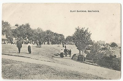 Old Postcard 'Cliff Gardens' Southend 1914