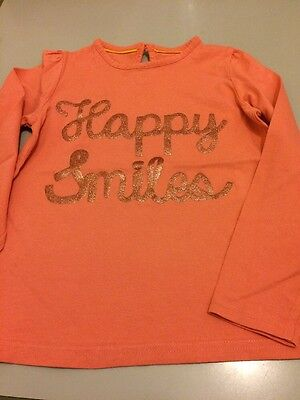Lovely Little Girls Orange M & S Autograph Top Age 6-7 Years