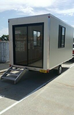 Weekly Hire Portable Relocatable Mobile Cabin Spare Room Granny Flat Site Office