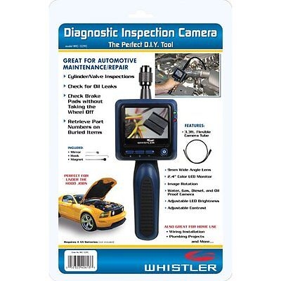 Whistler WIC1229C Waterproof Inspection Camera Brightness Control LCD Screen NE
