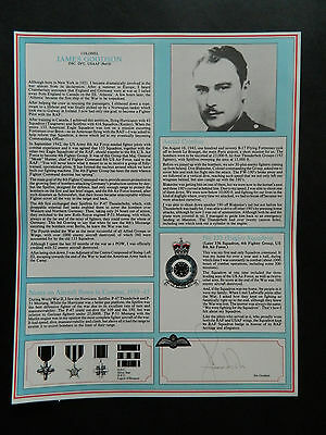 Military Gallery Fighter Pilot Profile Signed James Goodson King of the Strafers