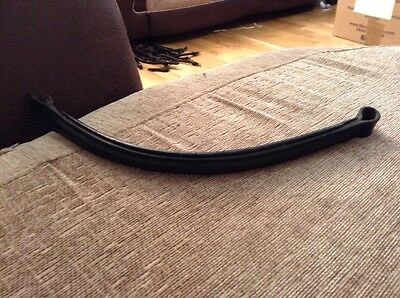 Black English Leather Cob Size Browband 15 Inches Long