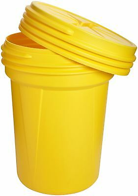 Eagle 1600SL Yellow High Density Polyethylene Lab Pack Drum with Plastic Scre...