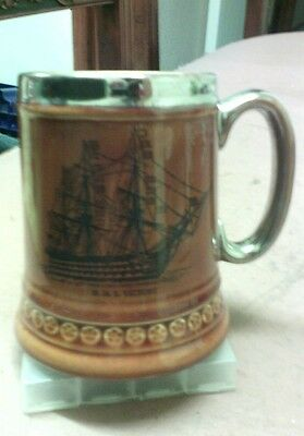 Lord Nelson pottery hms victory tankard