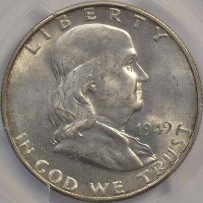 1949-S 50C Franklin Half Dollar PCGS MS64