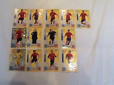 World Cup 2014 Match Attax Spain Trading Cards