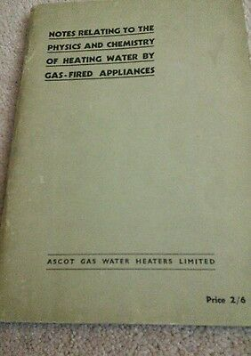 Notes relating to the physics and chemistry of heating water