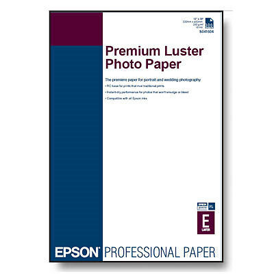 Epson Premium Luster Photo Paper A2 594x430mm (250gsm) - Part Used Box 23 Sheets