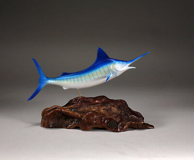 MARLIN Sculpture New direct from JOHN PERRY 11in long Airbrushed Decor Statue