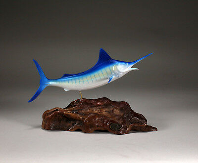 MARLIN Statue New direct from JOHN PERRY 11in long Figurine Airbrushed Decor