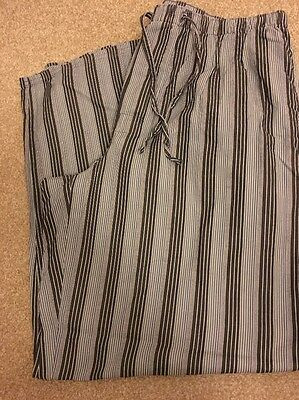 Autograph Mens Grey Striped Pyjama Long Bottoms Size Large