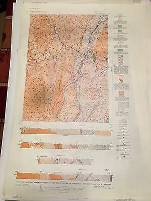 6 Geology Quadrangle New Hampshire Color Map Chocorua Dixville Monadnock Hanover
