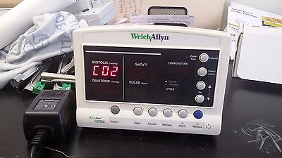 Welch Allyn 52000 series Vital Signs Monitor  pictured powered w/ power supply