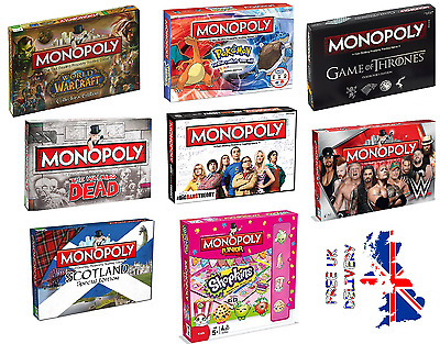 Monopoly's Special Edition's  Board Games - FAST & FREE DELIVERY