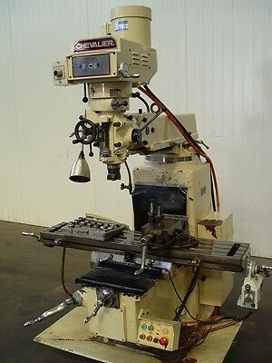 Milling Machine 1270mm x 254mm table - Turret mill with vertical head.