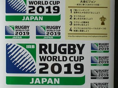 Rugby World cup 2019 JAPAN Sticker not for sale F/S from JAPAN