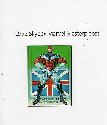 1992 Skybox Marvel Masterpieces Trading Card #15 Captain Britain