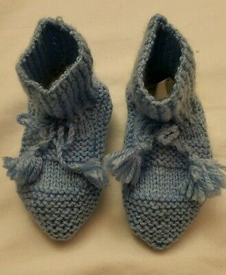 Baby socks Knitted baby booties Unisex Baby slippers blue boy girl