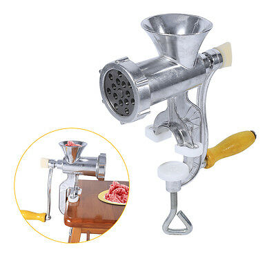 Aluminium Alloy Hand Operate Manual Meat Grinder Beef Mincer Kitchen Tool CD
