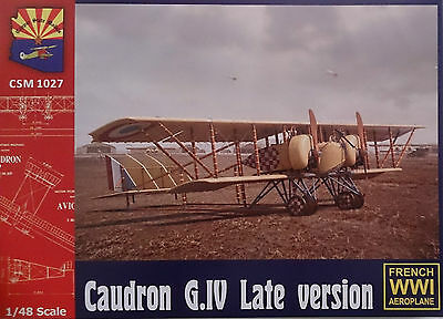 1:48 Copper State Models #K1027  Caudron G.IV Late version, plastic kit w/PEP