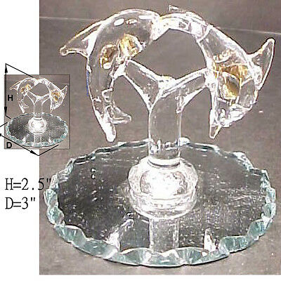Double doiphins on a mirror stand