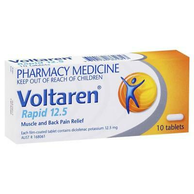 ツ Voltaren Rapid 12.5Mg 10 Tablets Muscle And Back Pain Relief