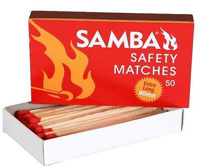 Samba Matches 90mm Extra Long Fire Wood Safety Emergency Camping Everyday