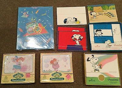 Postalettes Assorted Vintage Stationary: Snoopy, Cabbage Patch, Peanuts