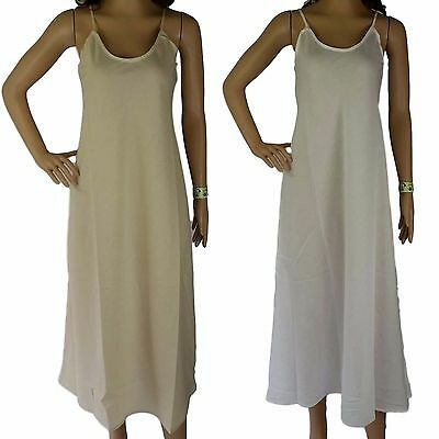 2 x COTTON SLIPS $68 NEW Long Womens Full Slip Size 12-20 Petticoats AUS Seller
