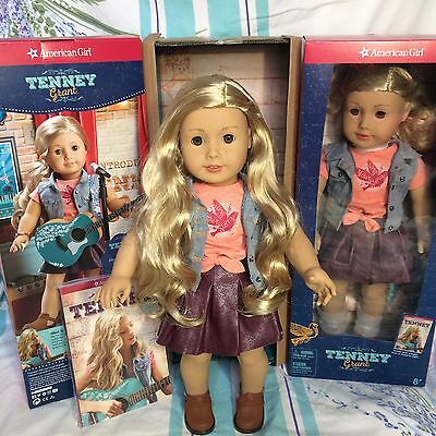 "American Girl TENNEY 18"" Doll Long Blonde Hair Brown Eyes Musician Tenny Nashvil"