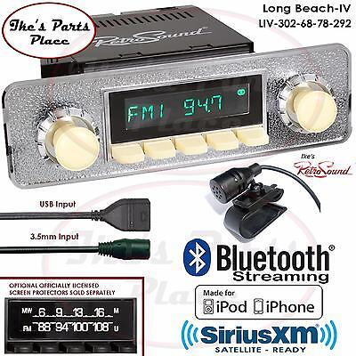 RetroSound Long Beach-IV Radio/BlueTooth/iPod/USB/Mp3/RDS/3.5mm AUX-In-302-68-VW