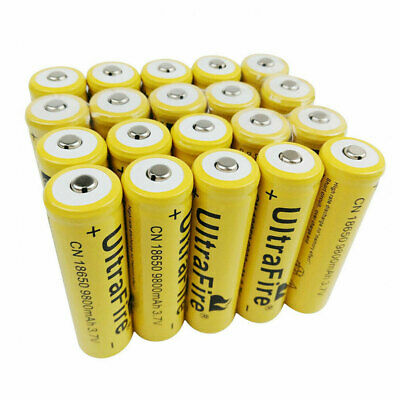 1/2/4/6/8/10/12pcs 18650 Batterie 9800mAh 3.7V Li-ion Rechargeable Battery Cells