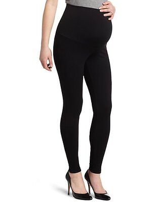 NWT Maternal America Maternity Belly Support Stretch Leggings BLACK *SMALL* $68