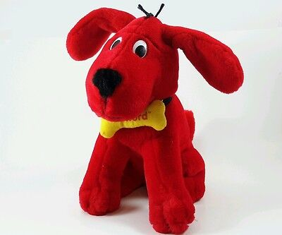 Clifford The Big Red Dog Barks Ear Flap Plush Dog Scholastic 1999 AVON  Stuffed