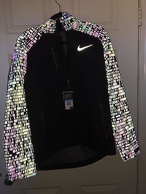 Men's Nike Hypershield Vapor Running Jacket 3M Flash 800903-010 Size XL  NWT
