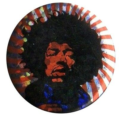 Jimi Hendrix Icon Sparkle 1 inch button pin badge Official