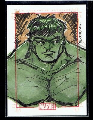 2010 70 Years of Marvel Comics Hulk Sketch by Eugene Commodore