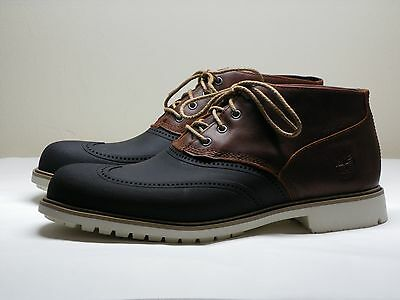 Men's TIMBERLAND Earthkeepers Brown Leather Chukka Ankle Boots Size 10.5 M