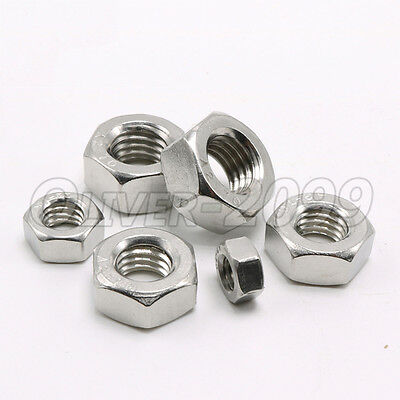 100pcs M3 Stainless Steel Metric Hexagon Nuts DIN934 for M3 Screw Bolt