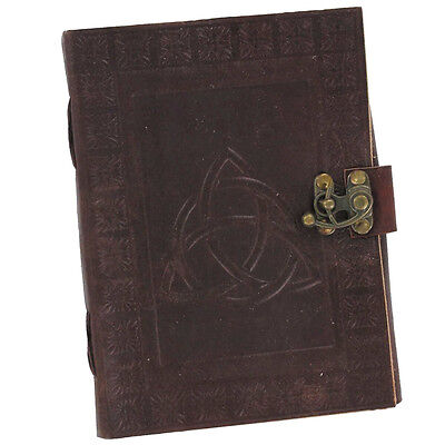 Celtic Triquetra Handmade Renaissance Leather IN8660BRWL Blank Journal Diary