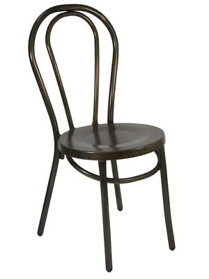 Bentwood Metal No 18 Stackable Dining Chair Replica Thonet Coffee Rust Cafe Bar