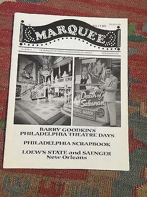 MARQUEE- The Journal of the Theatrical Historical Society- Third Quarter 2003