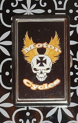 Choppers Motorcycles Metal Business Card Money ID Holder Case Skull Biker Gift
