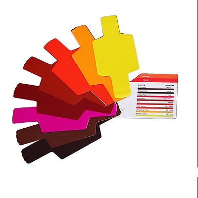 20pcs Flash Speedlite Color Gels Filters for Canon Nikon Sony Godox Yongnuo