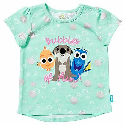 NEW Disney Baby Finding Dory Short Sleeve Bubbles T-Shirt Kids