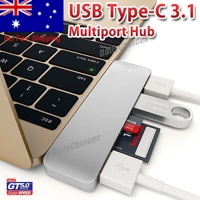 USB 3.1 Type-C to USB 3.0 HUB USB-C 3IN1 Charging Port Adapter Cable