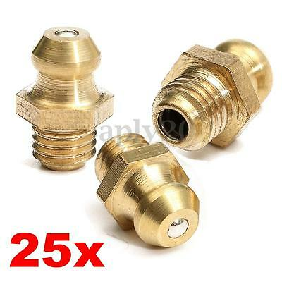 25X 1/4' Drive Type Taper Thread Straight Grease Zerk Nipple Fitting US NEW
